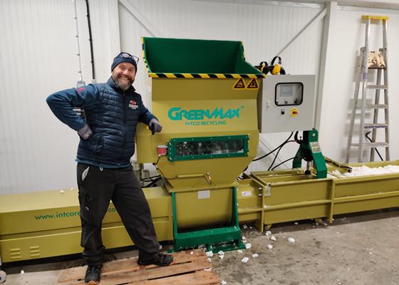 Styrofoam Compactor Polystyrene Compactor Intco Greenmax Recycling